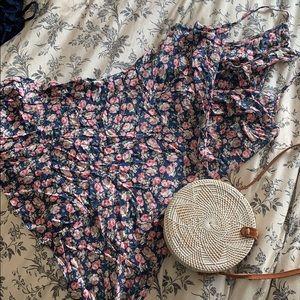 Spaghetti strap floral mini dress